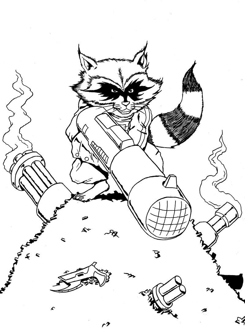 800x1074 Rocket Raccoon Sketch By James Ed Marsh