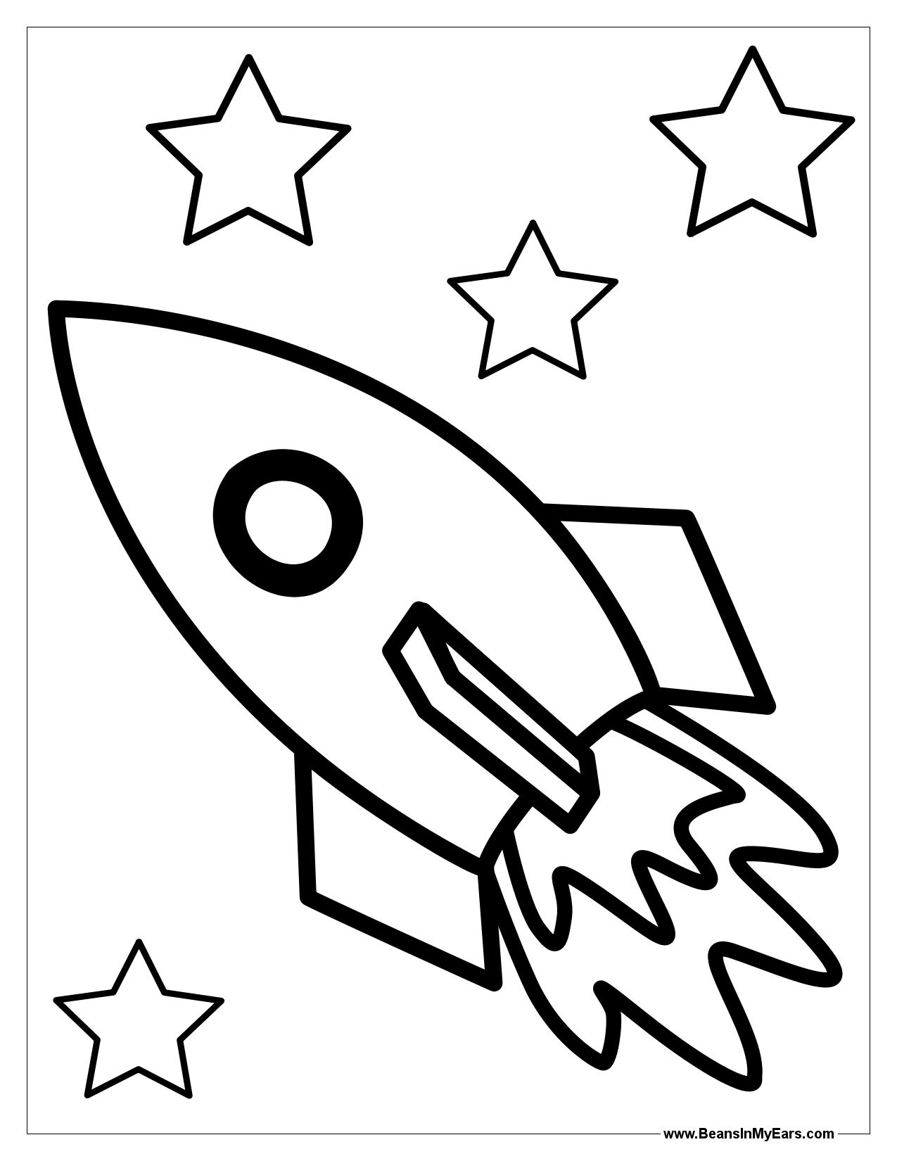 1275x1650 Rocket Ship Coloring Page Wallpapers
