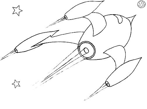 504x374 Wayne Schmidt's Free Space Ship Coloring Page