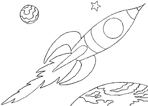 522x373 Rocket Ship Coloring Pages