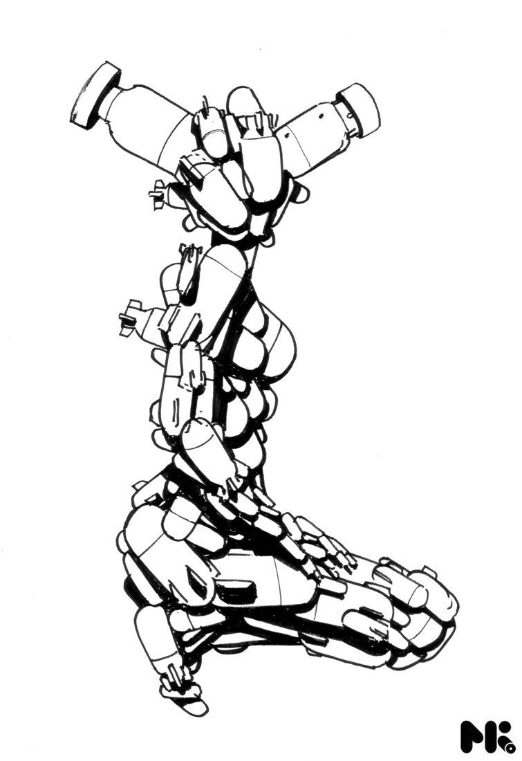 755x1100 Love Chains Rockets Sketch By Michaelkutsche