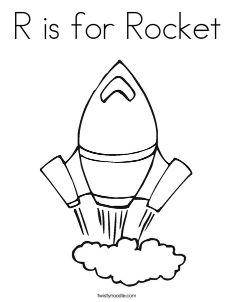 468x605 R Is For Rocket Coloring Page