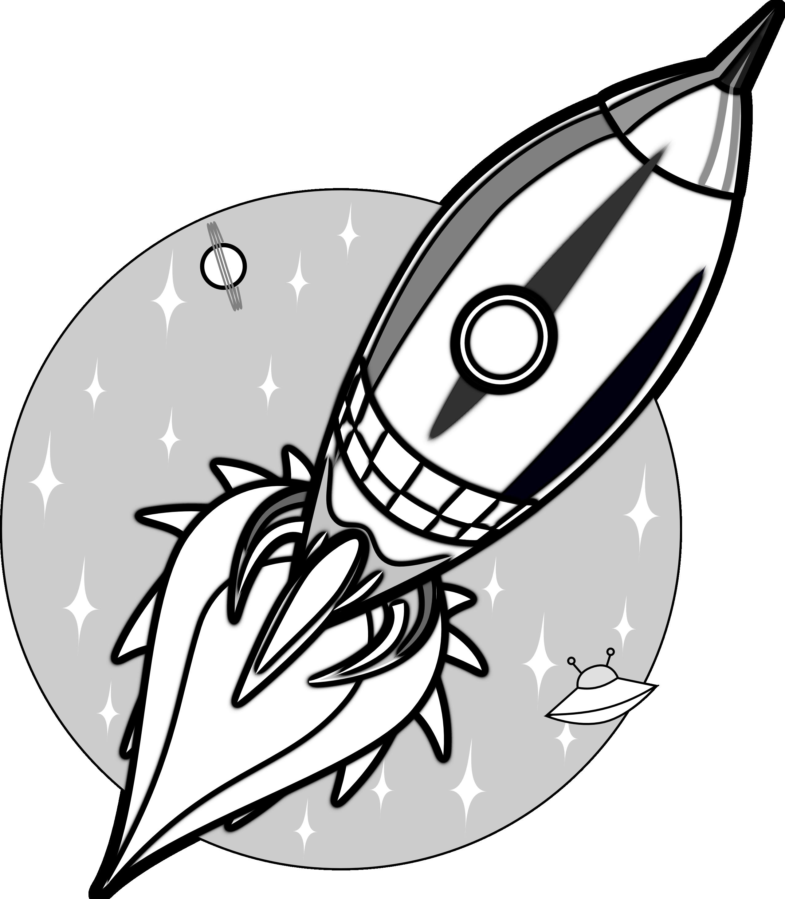 2555x2926 Cartoon Rocket Clipart