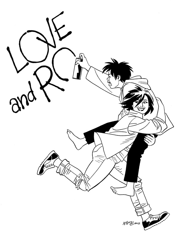 619x783 Love And Rockets Parody Hopey And Maggie By Jaime Hernandez