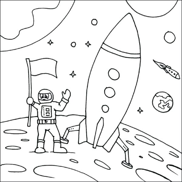 600x600 Rocket Ship Coloring Pages