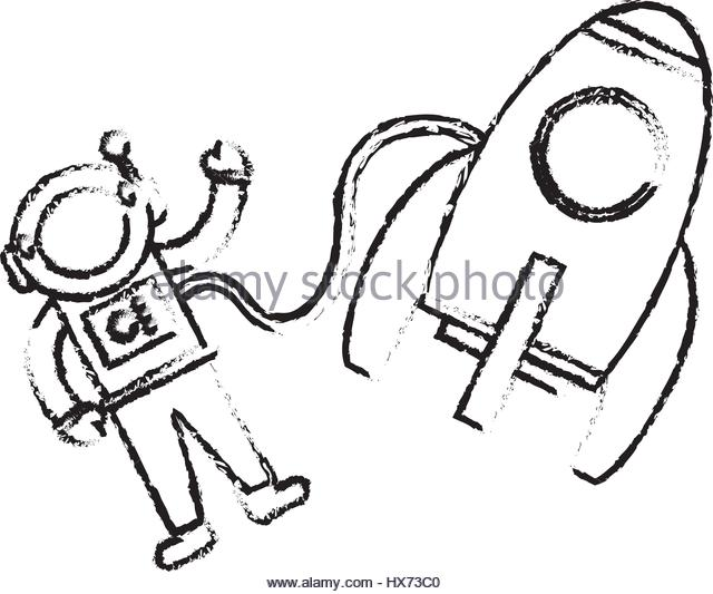 640x533 Drawing Child Rocket Stock Photos Amp Drawing Child Rocket Stock