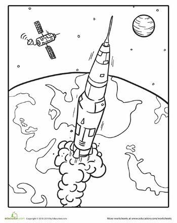 350x440 Drawn Rocket