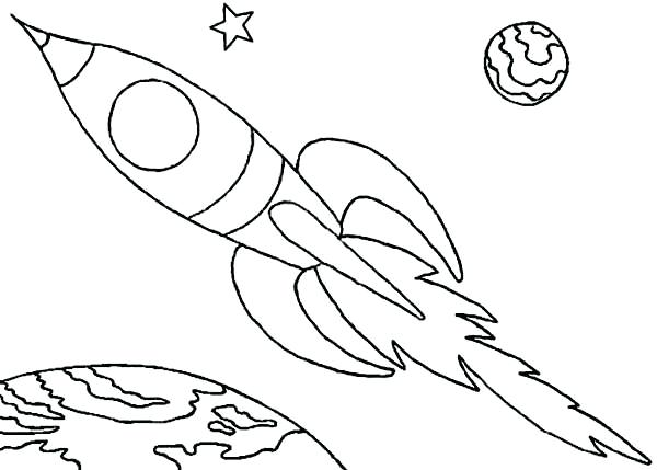 600x429 Expert Rocket Coloring Page Challenger Space Shuttle Ship Download