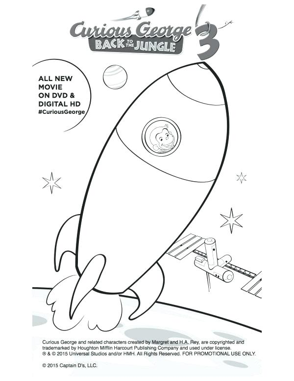 600x776 Curious George Coloring Pages Printable Free Printable Curious