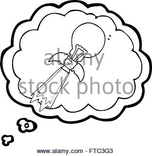 312x320 Freehand Drawn Cartoon Lightbulb Rocket Ship Stock Vector Art