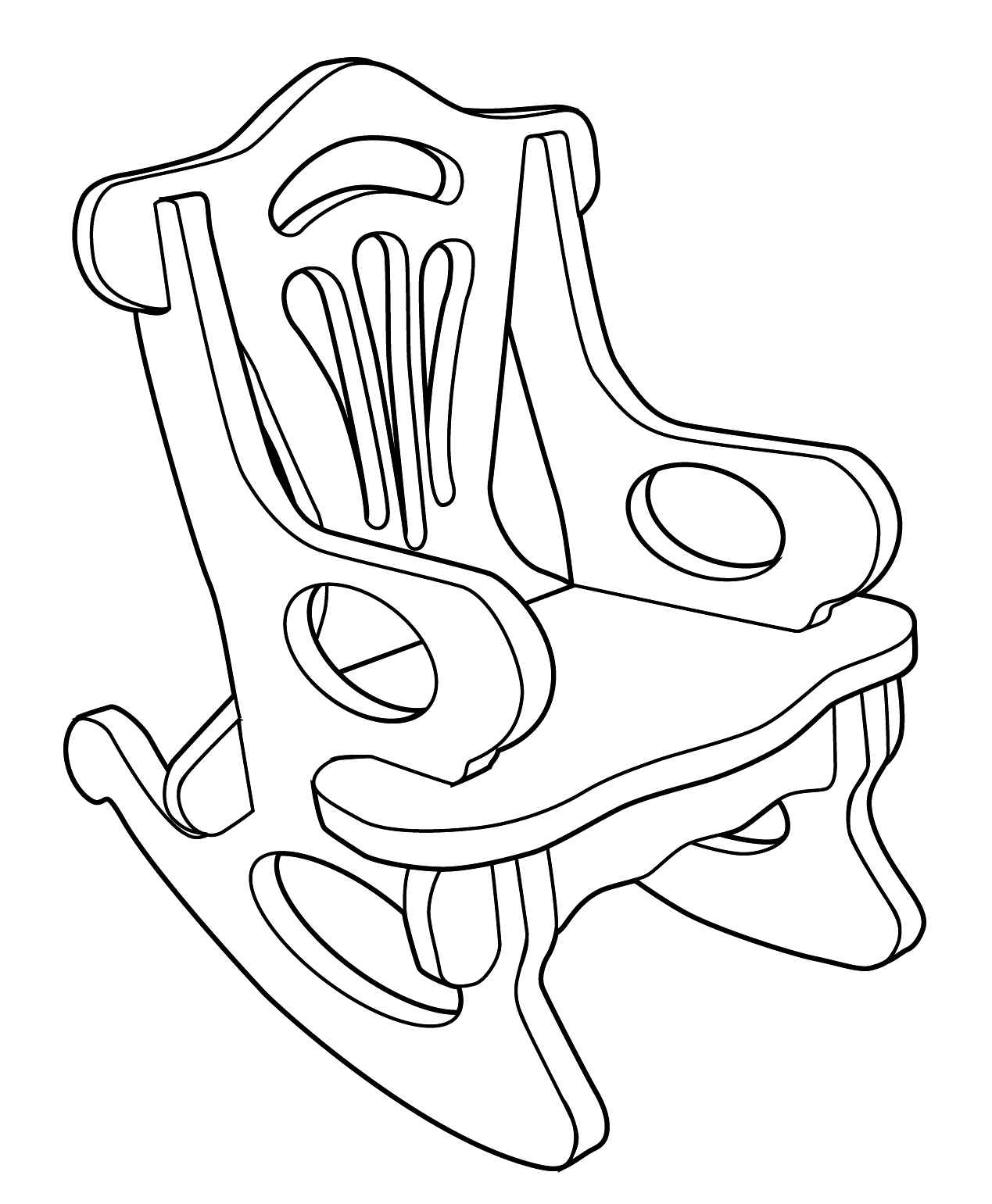 1269x1541 Modren Rocking Chair Drawing On Design Decorating