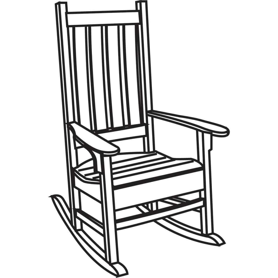 1185x1185 The Images Collection Of Rocking Chair Clipart Black And White