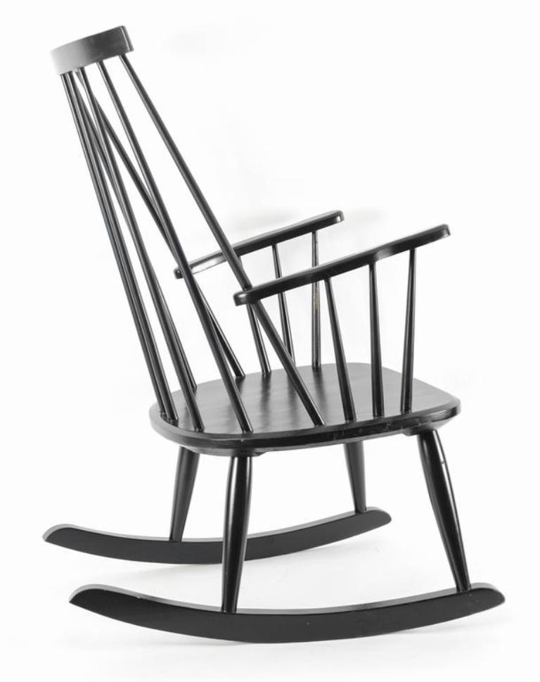 768x969 Vintage Swedish Rocking Chair By Lena Larsson For Nesto For Sale