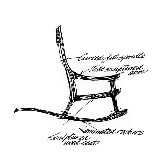 650x676 38 Sam Maloof, Exceptional Rocking Chair Lt Design Masterworks, 17