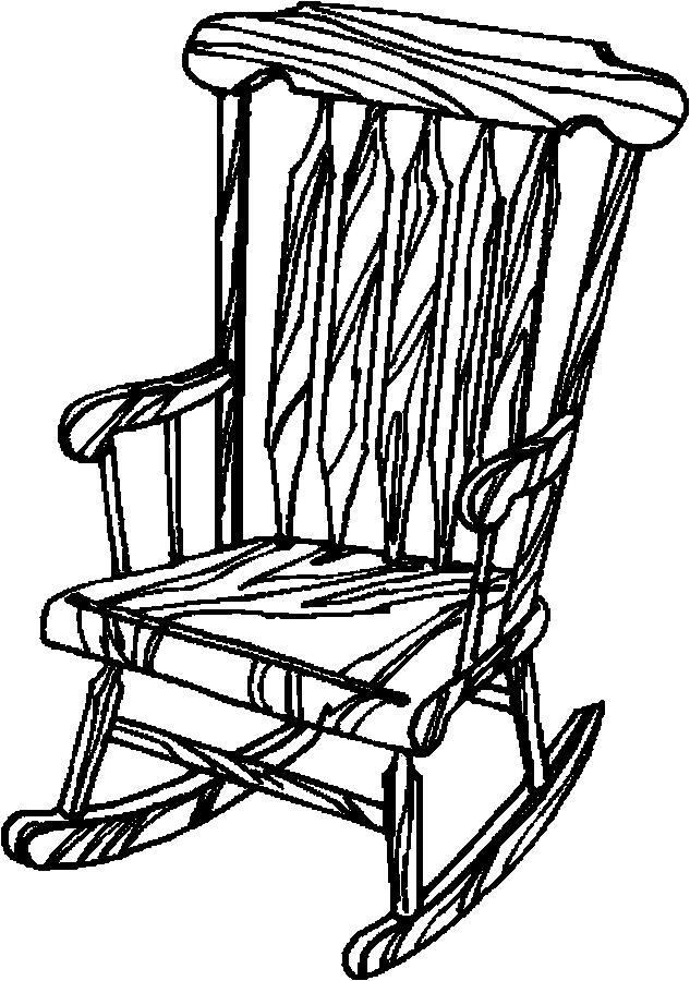 633x900 Exellent Rocking Chair Drawing Hand Of Old Wooden For Design