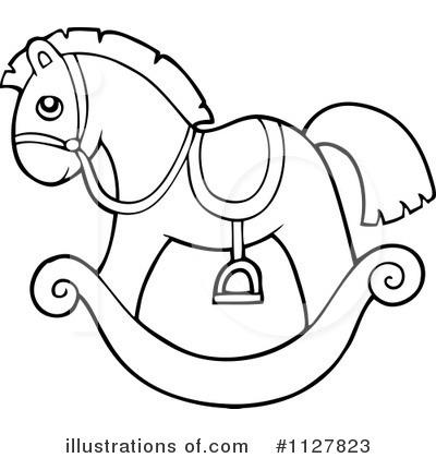 400x420 Rocking Horse Clipart