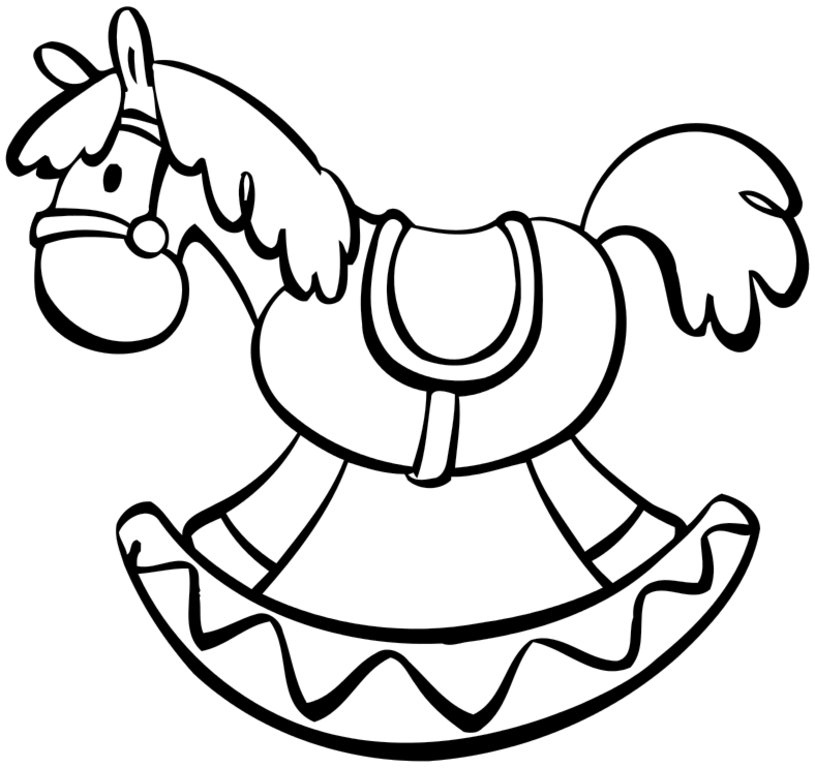 815x768 Rocking Horse Coloring Pages