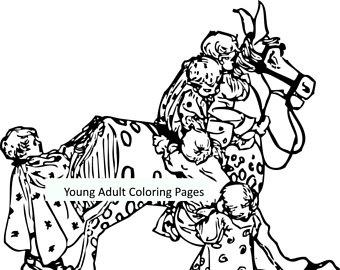 340x270 Sketch Rocking Horse Etsy