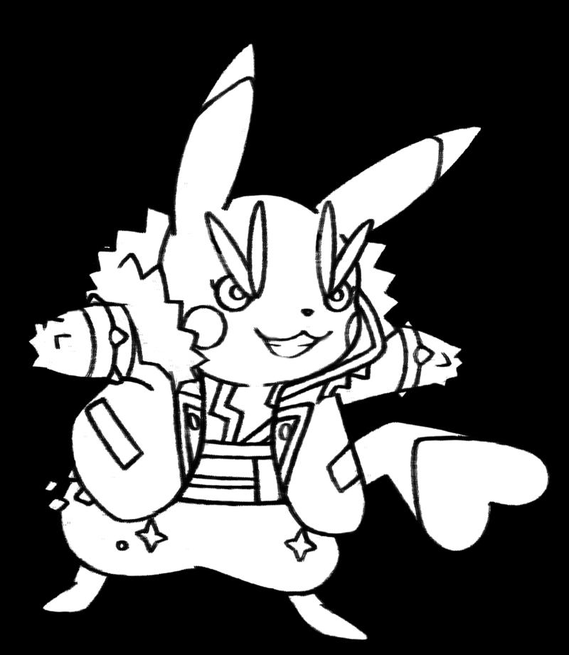 800x921 025 Rock Star Pikachu By Realarpmbq