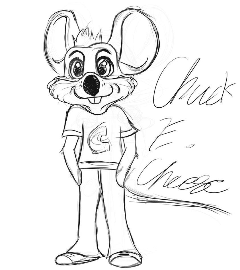 843x948 Sketch. Rockstar Chuck E. Cheese By Thewalkingevergreen