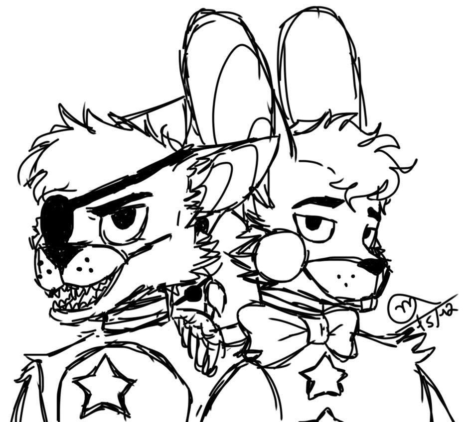 943x848 Rockstar Bonnie And Rockstar Foxy By Moniush
