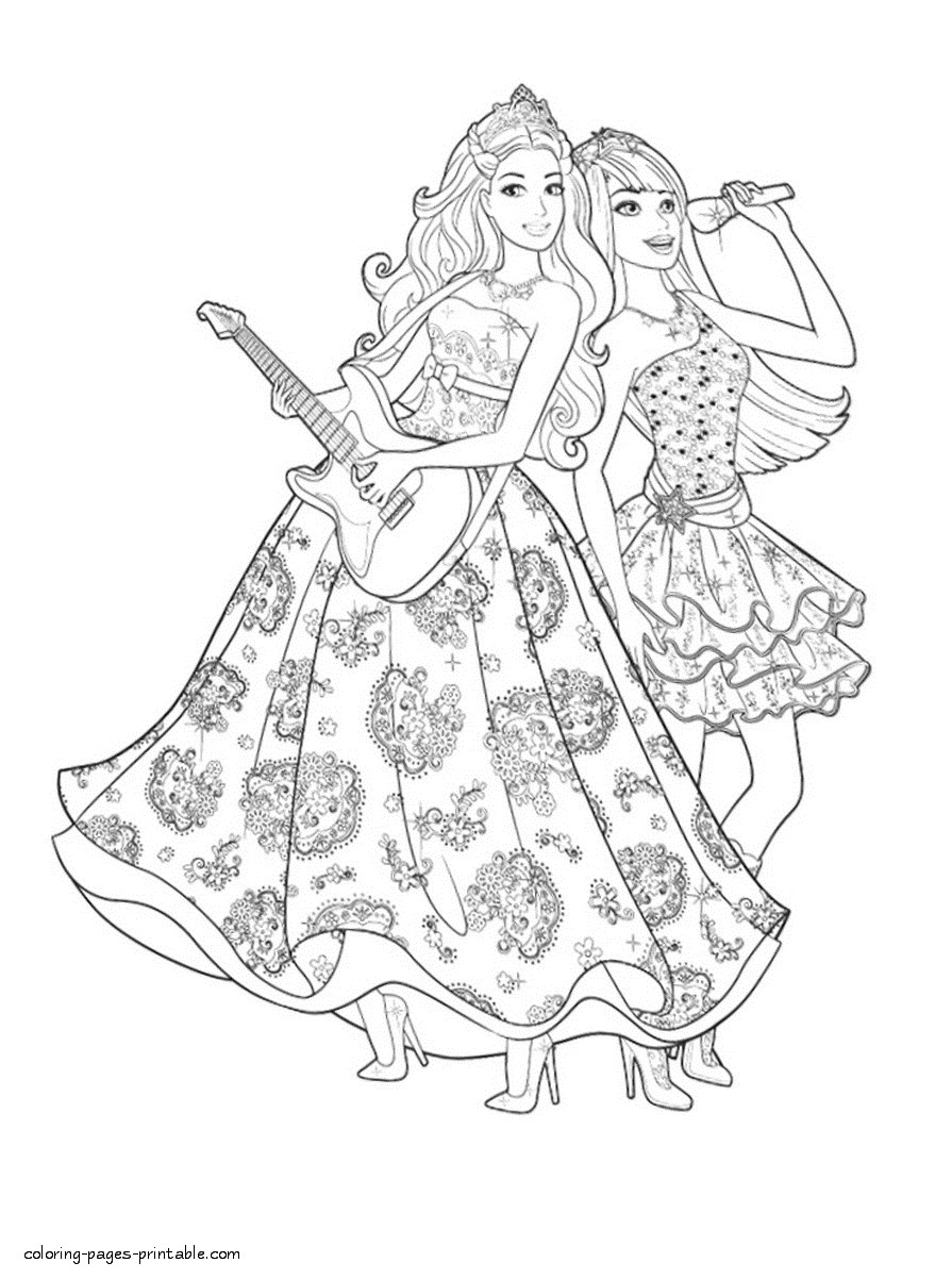 895x1202 Coloring Pages Barbie Rockstar New Barbie Coloring Pages