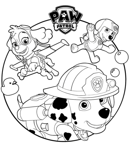 414x480 skye marshall and rocky coloring page free printable coloring pages