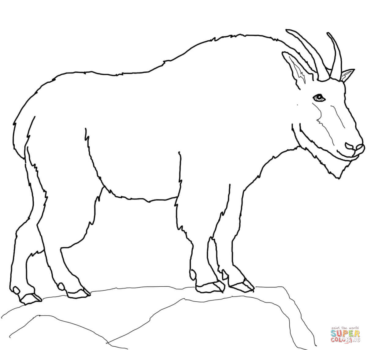 1200x1144 Mountain Goat Coloring Page Free Printable Coloring Pages