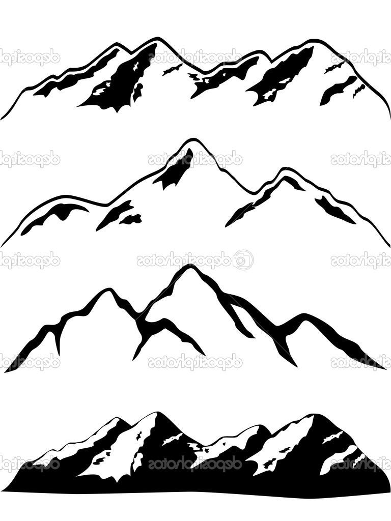 768x1024 Top Rocky Mountain Outline Clip Art Pictures