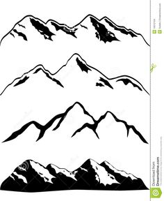 236x288 Rocky Mountains Outline Tattoos