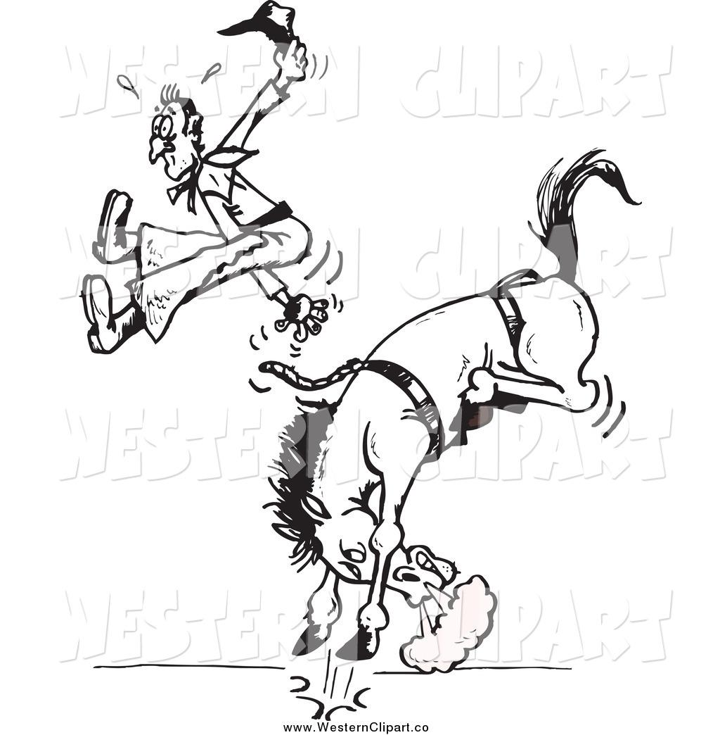 1024x1044 Cowboy Clipart Bucking Bronco