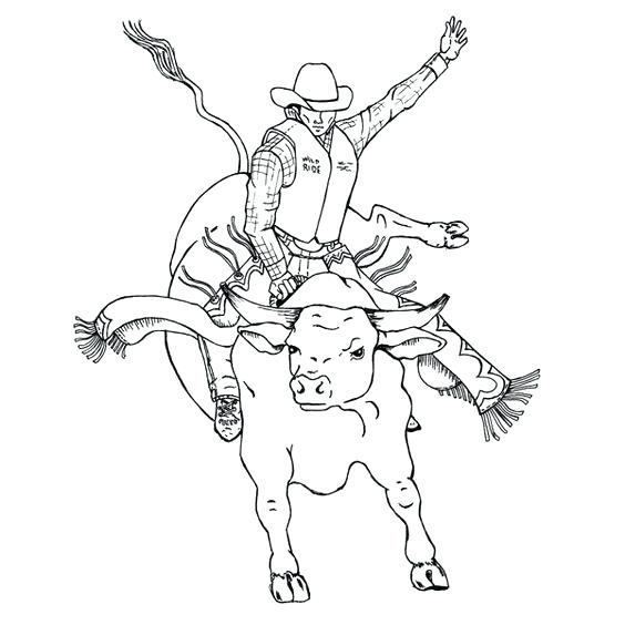 564x564 Rodeo Coloring Pages Bucking Bull Printable Rodeo Coloring Pages