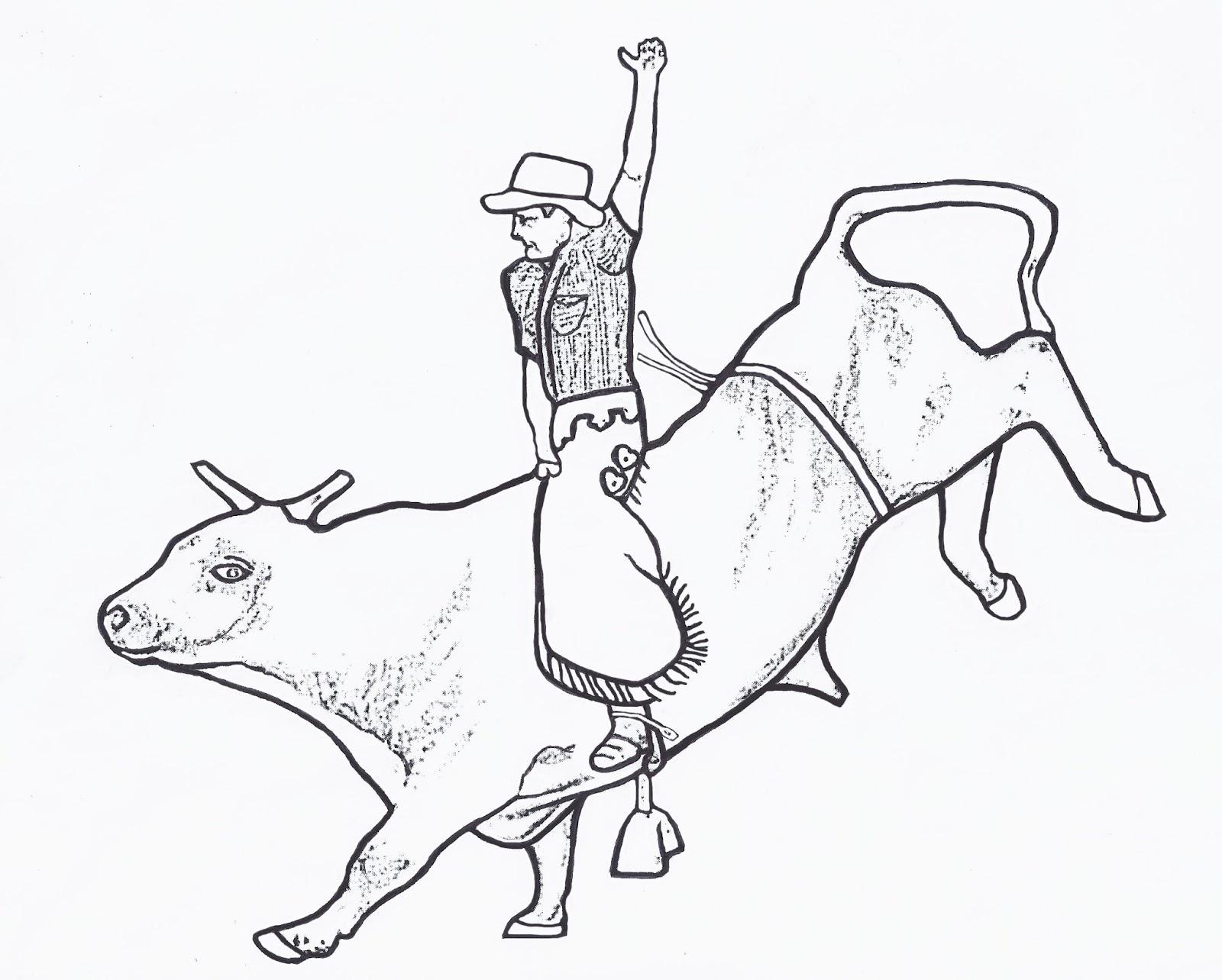 1600x1284 Bull Riding Coloring Pages 02 Mason Bull Riding