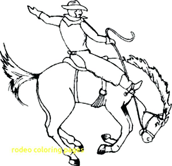 600x582 Amazing Rodeo Coloring Pages And Cowboy Ropes 65 Rodeo Bull