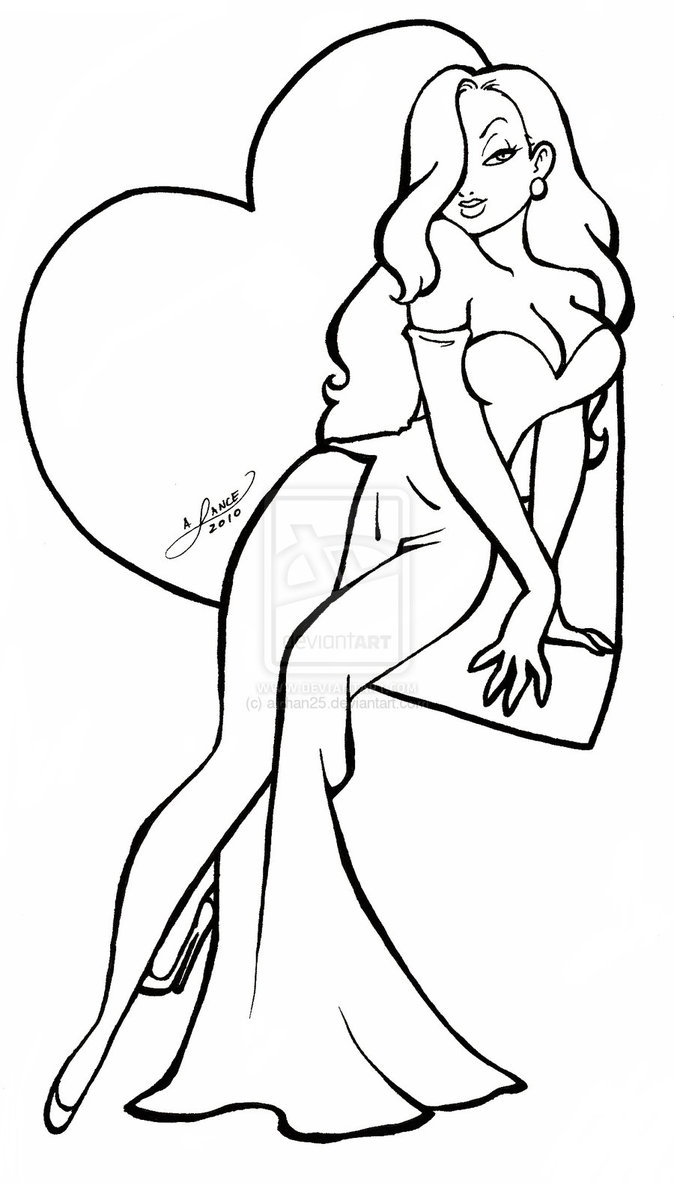 674x1185 Pin By Fede Simons On Drawings Jessica Rabbit