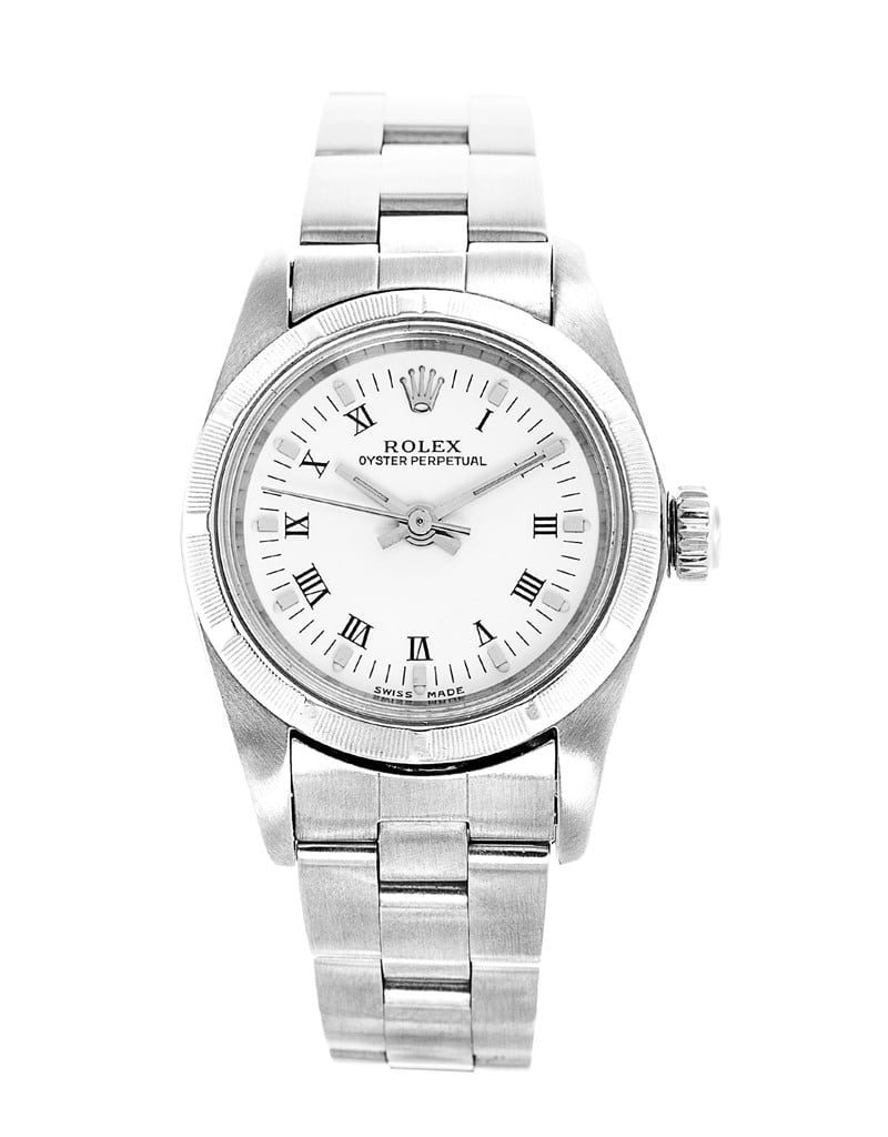 800x1024 Rolex Stainless Steel Oyster Perpetual 67193 26mm Ladies Watch