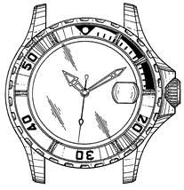 207x214 Watch Design Patent