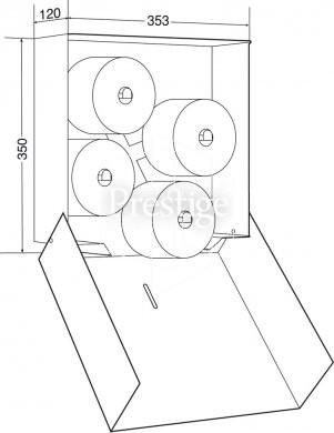 301x390 Prestige 4 Roll Toilet Roll Holder