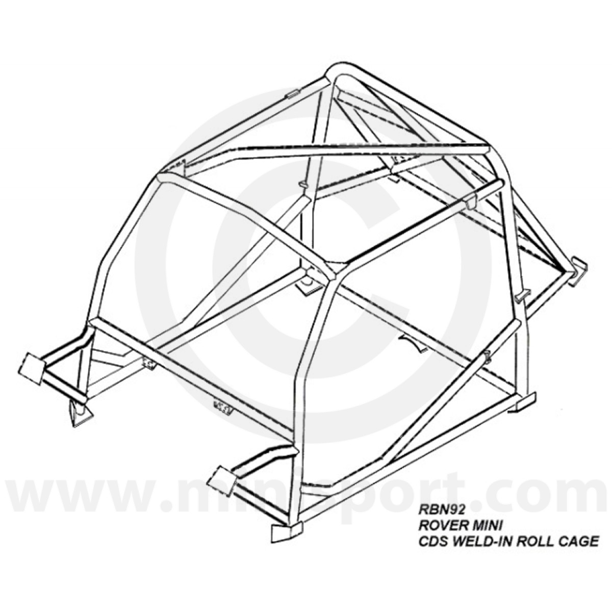 1200x1200 Rbn926ssu Mini Weld In Roll Cage Safety Devices