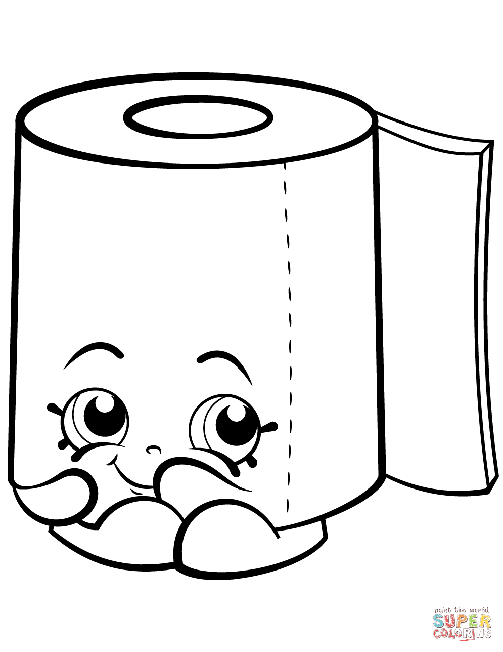 995x1288 Sweat Leafy Roll Of Toilet Paper Shopkin Coloring Page Free