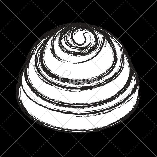 550x550 Cinnamon Roll Sketch