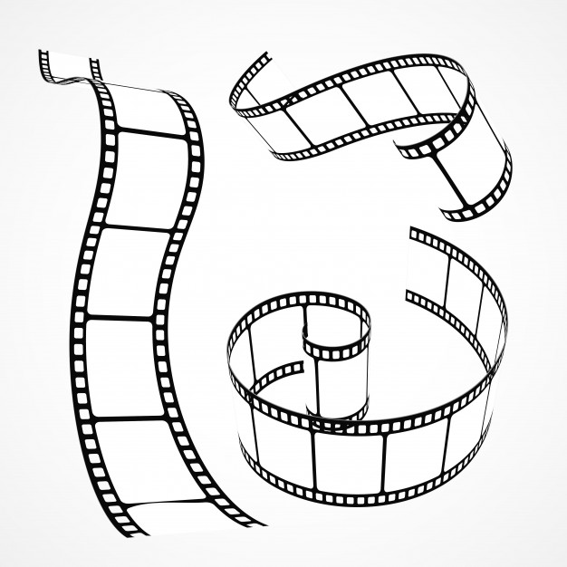 626x626 Set Of Hand Drawn Film Reels Vector Free Download