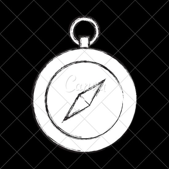 550x550 Sketch Draw Cute Compass
