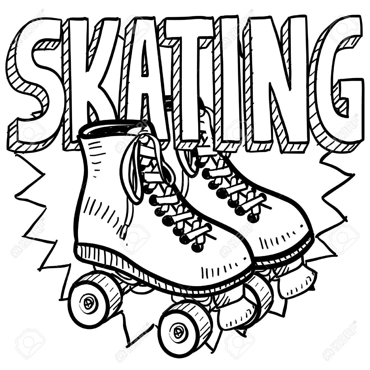 Roller Skate Drawing at GetDrawings   Free download