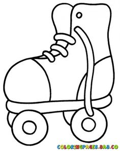 photo about Roller Skate Template Printable known as Roller Skate Drawing at  Cost-free for unique