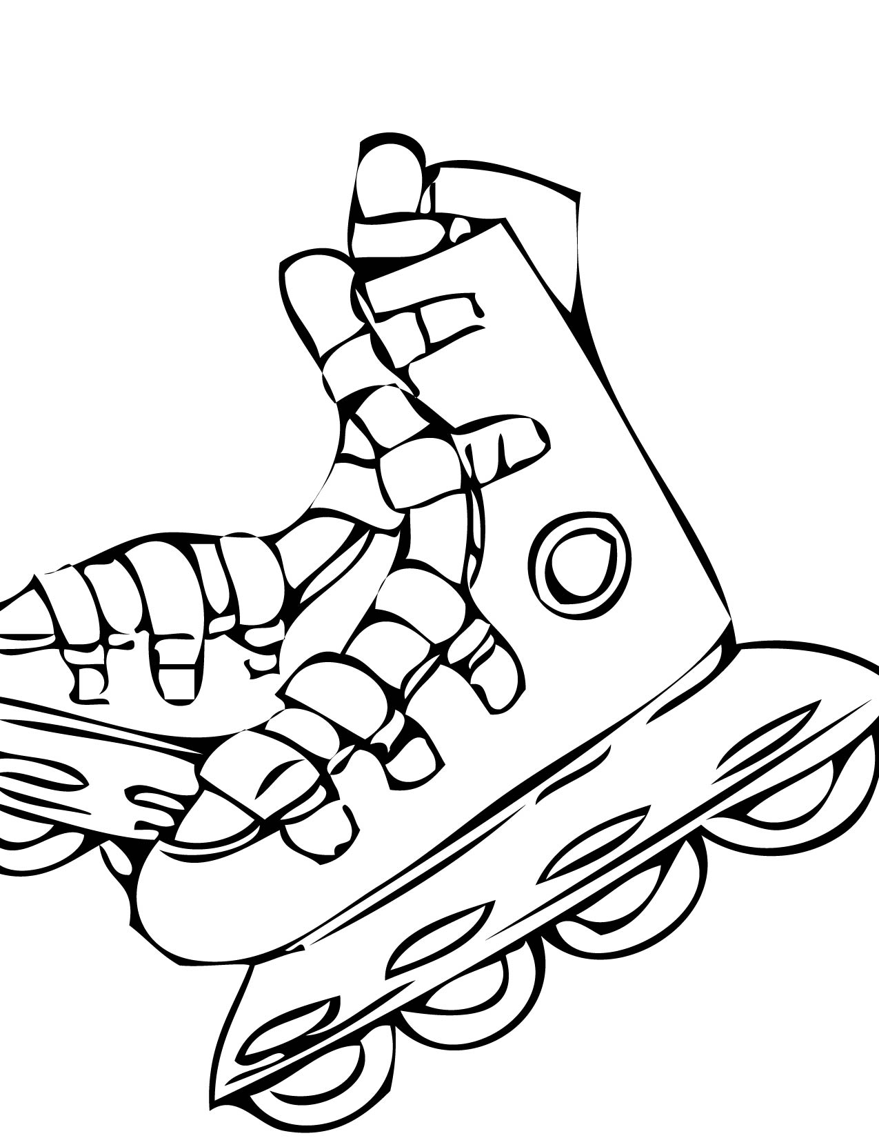 1275x1650 adorable roller skate coloring page 34