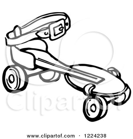 450x470 Roller Skates Black And White Clipart