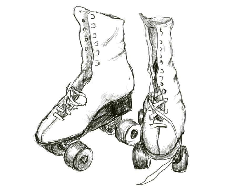 923x740 Roller Skates 10,000 Bad Drawings
