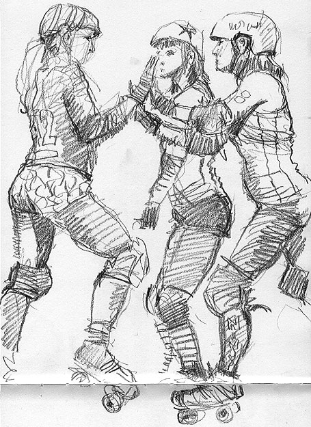 455x624 An Illustrator's Life For Me! Sheffield Steel Rollergirls