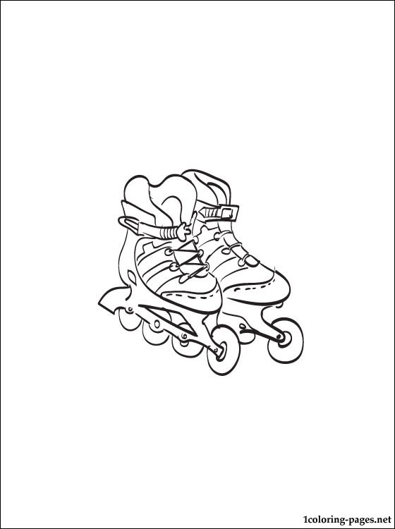 560x750 Roller Skates Coloring Page Coloring Pages